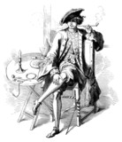 Smoker - Elegant Man - 17th century
