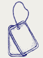 Dog tags. Doodle style