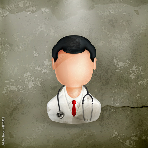 Doctor, old-style vector icon