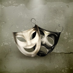 Theater masks, old-style