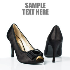 Black high heel women shoes