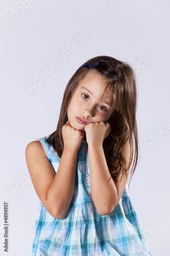 Upset little girl