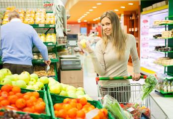 Fruit shopping at the supermarket