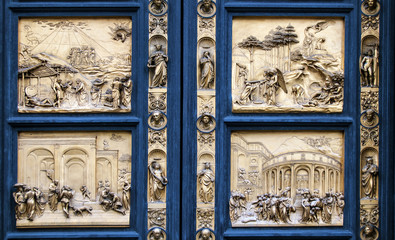 Detail of the pradise gate in Florence