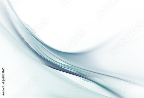 Gentle light blue waves on white background