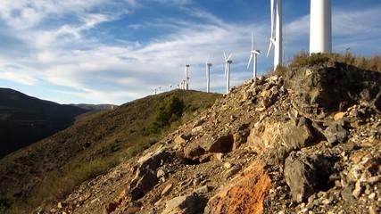 vistas molinos eolicos
