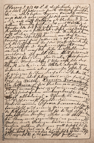 old letter with handwritten italian text