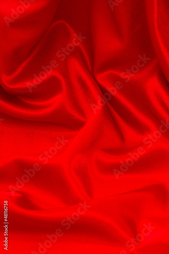 shiny red satin fabric background