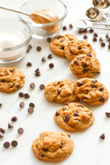 Flourless Peanut Butter and Chocolate cookies - vertical