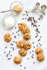 Flourless Peanut Butter and Chocolate Chip cookies - vert