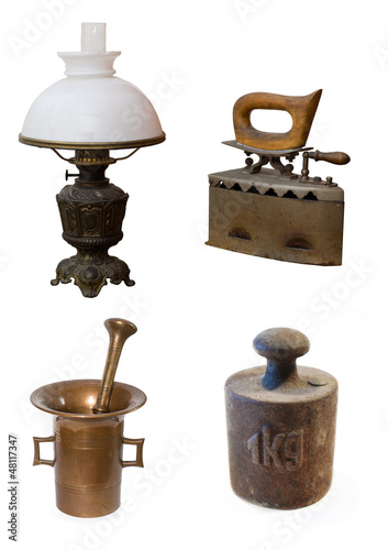 antiques isolated on the white background