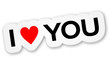 Sticker - I Love You (II)