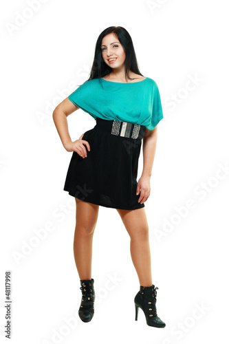 woman in funky dress