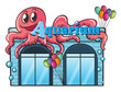 Aquarium and octopus