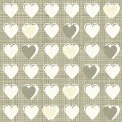 serca w rzędach wzorzysty retro deseń papier scrapbook