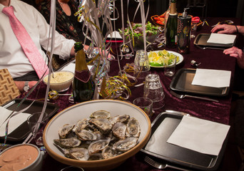 Oysters and champagne party