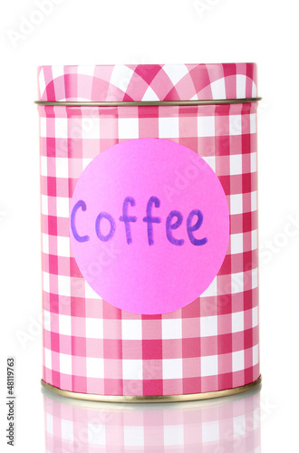 Coffee container isolated on white