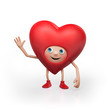 Valentine's Day happy heart cartoon character
