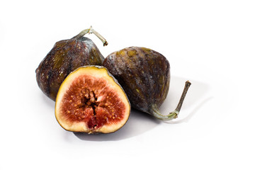 ripe figs isolated
