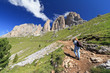 Dolomiti - hiker on footpath