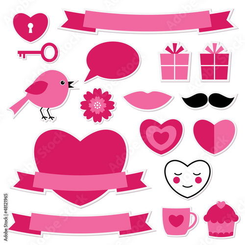 Valentine's design elements set