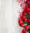 Quadro Wood Background with Roses