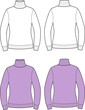 Vector illustration of women's roll-neck