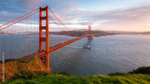 Golden Gate Bridge Sunset Panorama