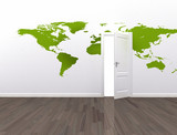 Open door global communication conceptual background
