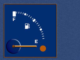 Petrol, fuel, gasoline guage - empty,background