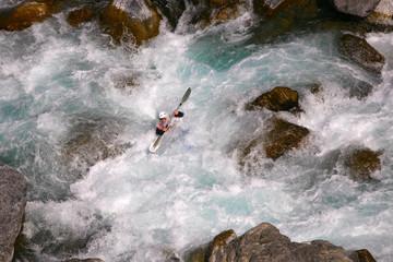 Kayaker in white water