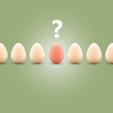 Why mum, why? - Egg concept background