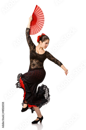 one woman gypsy flamenco dancer