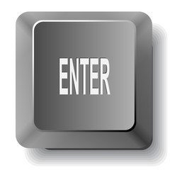 Enter. Vector computer key.