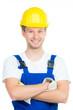 lächelnder handwerker