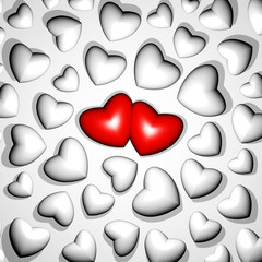 3D Love Hearts Lovers Concept-Cuori d'Amore-Pattern