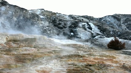 Mammoth Hot Spring in Yellowstone NP