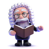 Judge reads his book on law