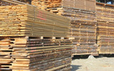stacks of timber - close up