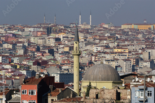 Istanbul, Turkey, city view from the observation deck