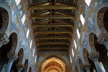 The interior Cathedral-Basilica of Monreale, sicily