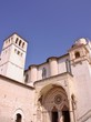 The basilica of san Francesco in Assisi in Tuscany in Italy