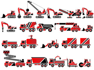 20 ICONS WORK VEHICLES RED