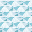 Seamless geometric pattern with origami boats.