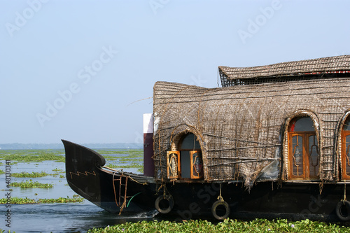 House boat in the Kerala (India) Backwaters