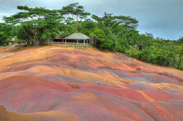 Coloured earth, Chamarel, Mauritius