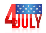 Fototapety 4th of july sign