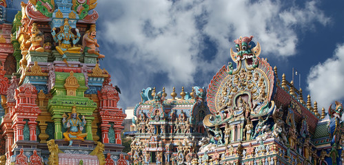 Meenakshi hindu temple in Madurai, Tamil Nadu, India
