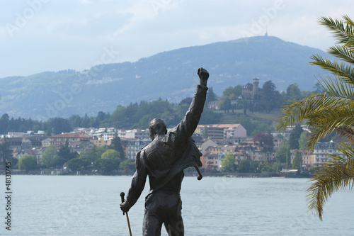 Switzerland, Montreux, Freddie Mercury monument