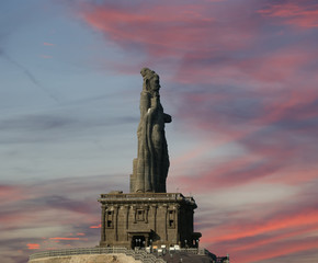 Thiruvalluvar statue, Kanyakumari, Tamilnadu, India.